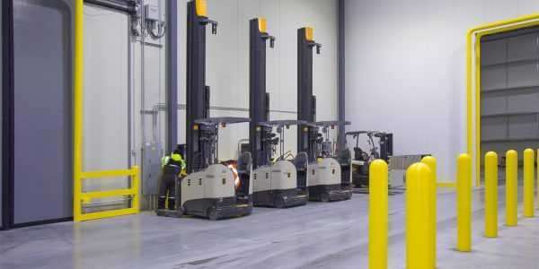 Forklift Charging Stations on Loading Dock